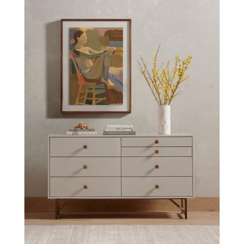 Matte Alabaster Finish Van 7 Drawer Dresser