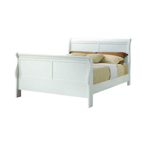 Louis Philippe Traditional Youth White Full Bed