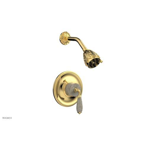 VALENCIA Pressure Balance Shower Set PB3338D - Polished Gold