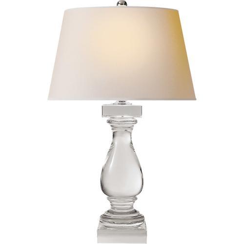 Visual Comfort - E F Chapman Balustrade 27 inch 150.00 watt Crystal Decorative Table Lamp Portable Light in Natural Paper