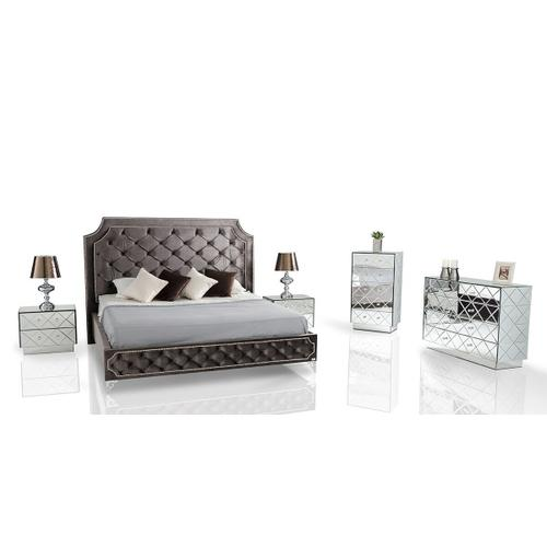 VIG Furniture - Modrest Leilah - Transitional Tufted Fabric Bed without Crystals