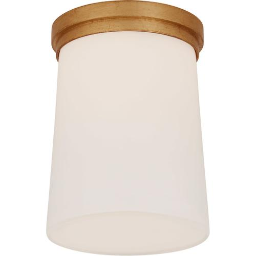 Barbara Barry Halo LED 5 inch Gild Solitaire Flush Mount Ceiling Light, Tall