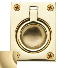 Non-Lacquered Brass Flush Ring Pull