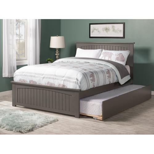 Nantucket Full Bed with Matching Foot Board with Urban Trundle Bed in Atlantic Grey