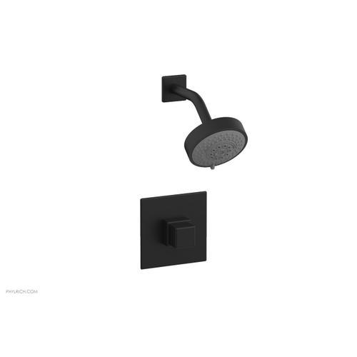 MIX Pressure Balance Shower Set - Cube Handle 290-24 - Matte Black