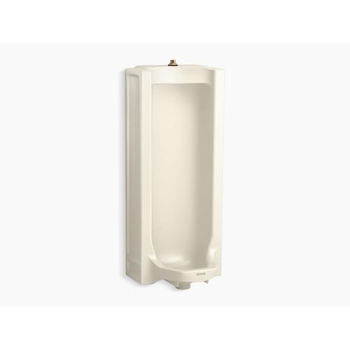 Almond Full Stall Washdown Urinal With Top Spud