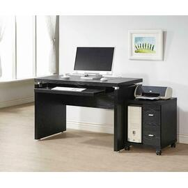 See Details - Contemporary Black Oak Cpu Stand