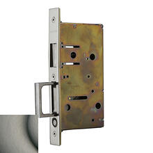 Antique Nickel 8603 Pocket Door Strike with Pull