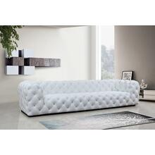 Divani Casa Dexter Transitional White Full Italian Leather 4 Seater Sofa