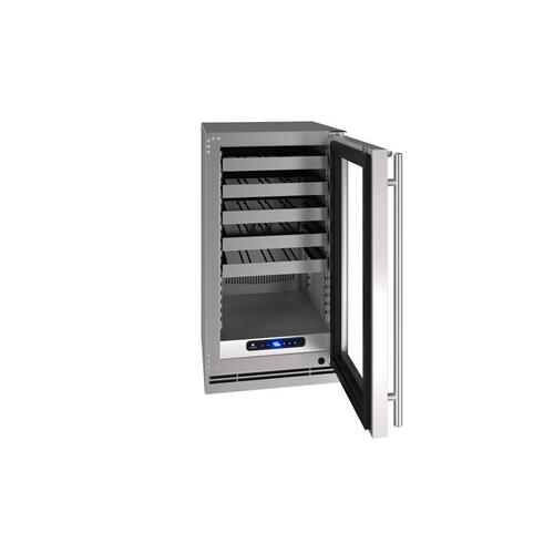 "18"" Wine Refrigerator With Stainless Frame Finish (230 V/50 Hz Volts /50 Hz Hz)"