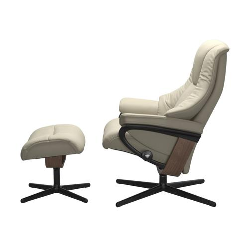 Stressless By Ekornes - Stressless® Live (M) Cross Chair with Ottoman