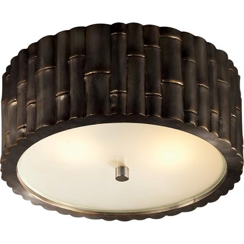 Alexa Hampton Frank 2 Light 11 inch Gun Metal Flush Mount Ceiling Light