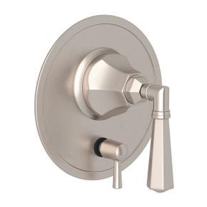 Palladian Pressure Balance Trim with Diverter - Satin Nickel with Metal Lever Handle