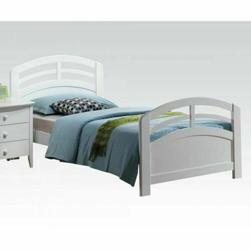 ACME San Marino Twin Bed - 19150T-KIT - White