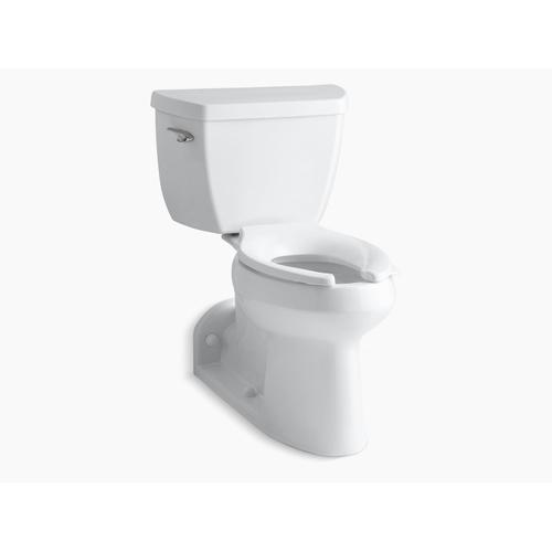 Black Black Two-piece Elongated 1.0 Gpf Toilet With Tank Cover Locks