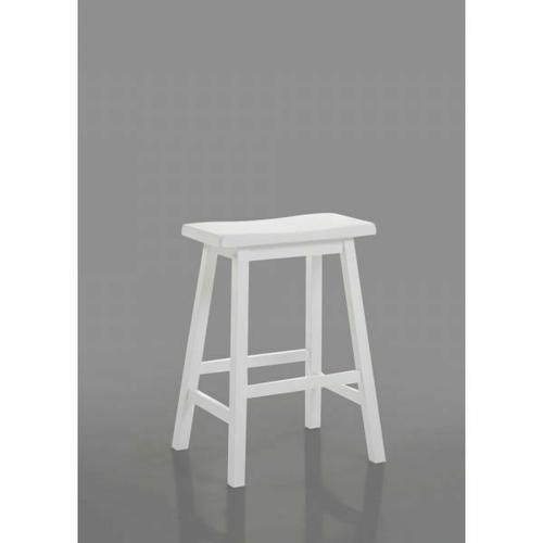 "ACME Gaucho Counter Height Stool (Set-2) - 07302 - White - 24"" Seat Height"