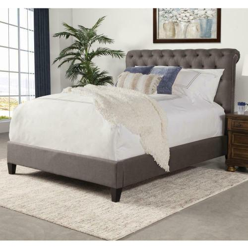 CAMERON - SEAL Upholstered Bed Collection (Grey)