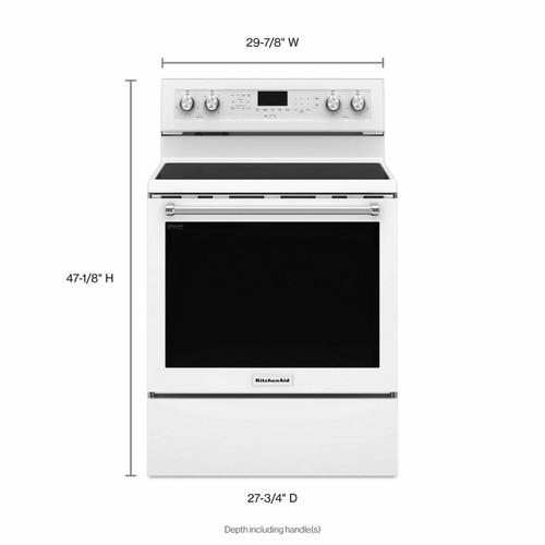 Gallery - 30-Inch 5-Element Electric Convection Range - White