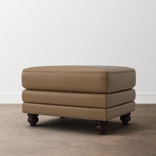Jackson Ultra Brown Jackson Leather Ottoman