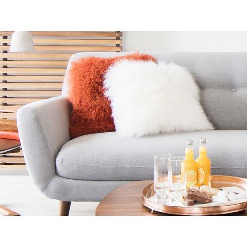 Moe's Home Collection - Lamb Fur Pillow Cream