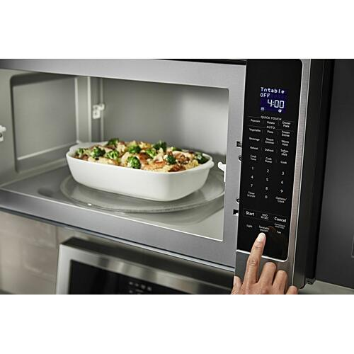 "KitchenAid - 30"" 1000-Watt Microwave Hood Combination - Stainless Steel"