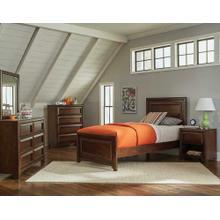 Greenough Transitional Maple Oak Full Storage Bed