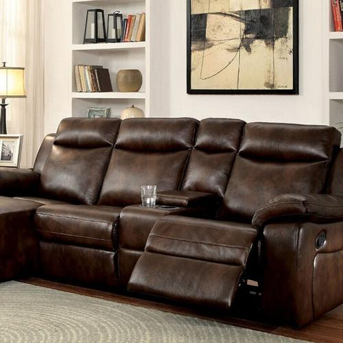 Furniture of America - Hardy Sectional W/ Console