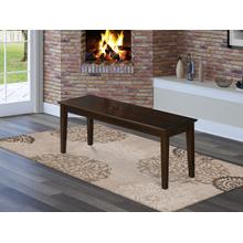 Capri bench with wood seat in Cappuccino