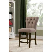 ACME Effie Counter Height Chair (Set-2) - 71526 - Light Brown Linen & Walnut