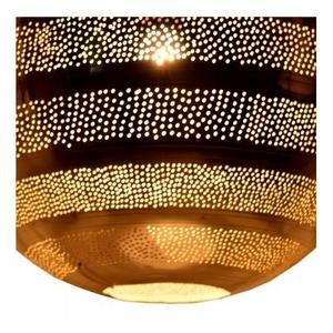 Taza Ball Line & Hole Pendant lamp large/Aluminium + Iron/Silver and mesh finish