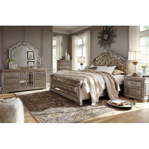 Birlanny - Silver 3 Piece Bed Set (King) - Limited Quantity!