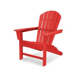 Polywood Furnishings - South Beach Adirondack in Vintage Sunset Red