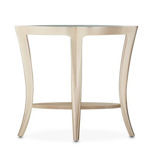 Amini - End Table W/glass