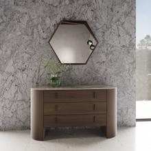 See Details - Modrest Chelton - Modern Walnut Mirror