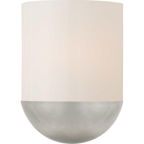 Barbara Barry Crescent LED 8 inch Burnished Silver Leaf Sconce Wall Light, Small