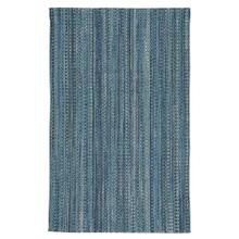 "Worthington Lake Blue - Vertical Stripe Rectangle - 24"" x 36"""