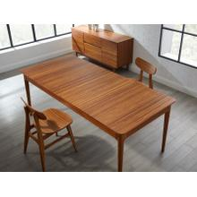 """View Product - Erikka 110"""" Double-Leaves Extensible Dining Table, Amber"""