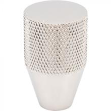 View Product - Beliza Conical Knurled Knob 13/16 Inch Polished Nickel Polished Nickel
