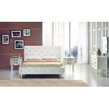 See Details - Modrest Monte Carlo Modern Leatherette Twin Bed with Crystals