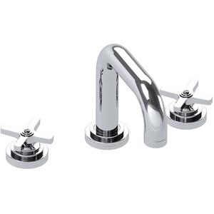 "Polished Nickel 3 Hole tub filler, 5 7/8"" spout length"