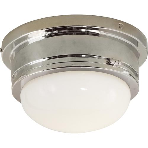 E. F. Chapman Marine 1 Light 8 inch Polished Nickel Flush Mount Ceiling Light