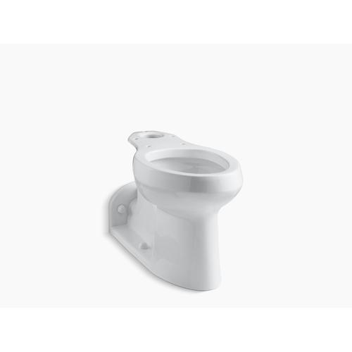 White Floor-mounted Rear Spud Antimicrobial Toilet Bowl With Skirted Trapway