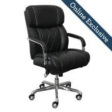 See Details - Sutherland Quilted Leather Office Chair, Jet Black