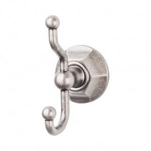 Edwardian Bath Double Hook Hex Backplate - Antique Pewter Product Image