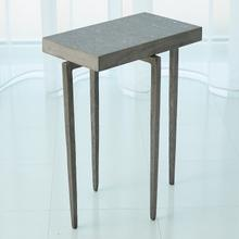 See Details - Laforge Accent Table-Natural Iron w/Flamed Granite Top