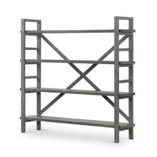 Washed Grey Finish Toscana Bookshelf
