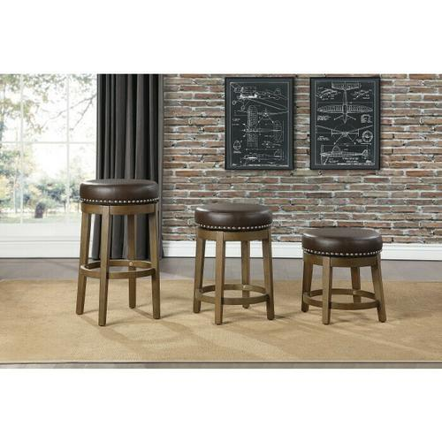 Gallery - Round Swivel Counter Height Stool, Brown