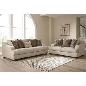 Marciana Sofa & Loveseat Bisque