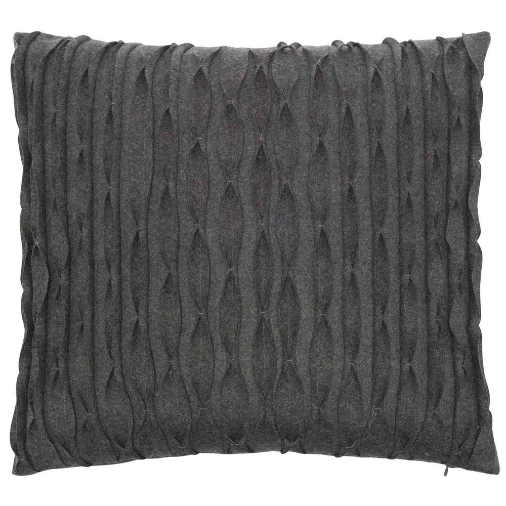 """See Details - Luxe Pillows Pleated Wool (22"""" x 22"""")"""