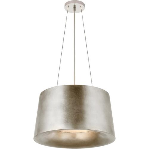 Barbara Barry Halo 2 Light 19 inch Burnished Silver Leaf Hanging Shade Ceiling Light, Small